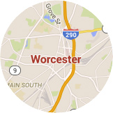 Map Worcester