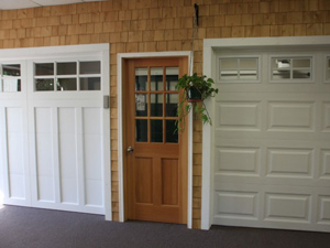 Showroom Garage Doors White | Frontview