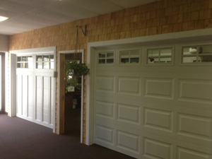Showroom Garage Doors White | Sideview